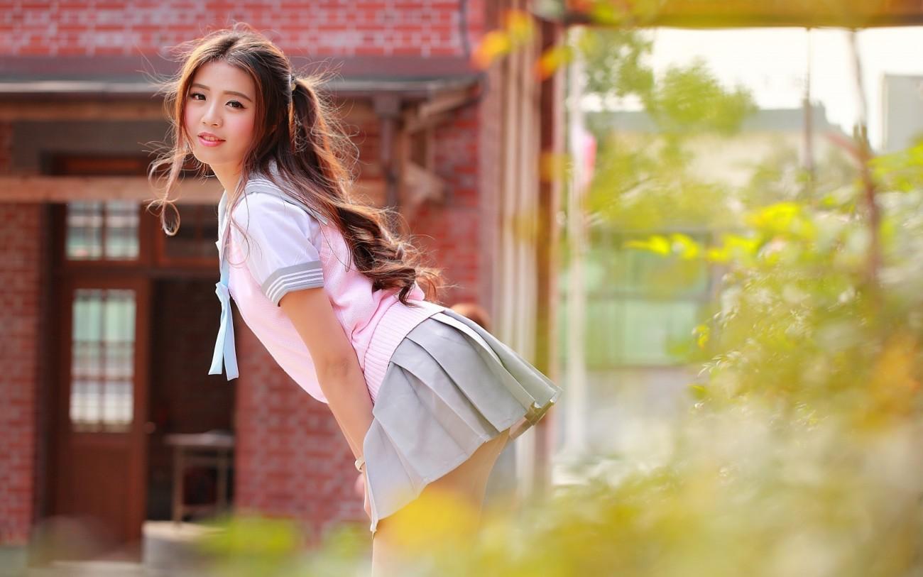 women, Asian, Model, Brunette, Leaned..