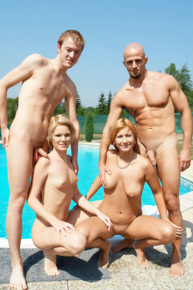 Nudists of different age photograph..