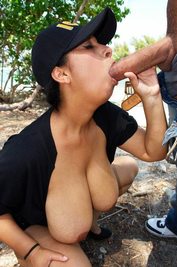 Meaty titted latina damsel fellating..