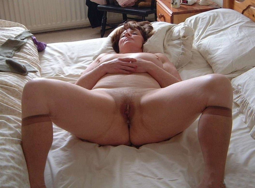 Mature Plus-size with broad thighs and..