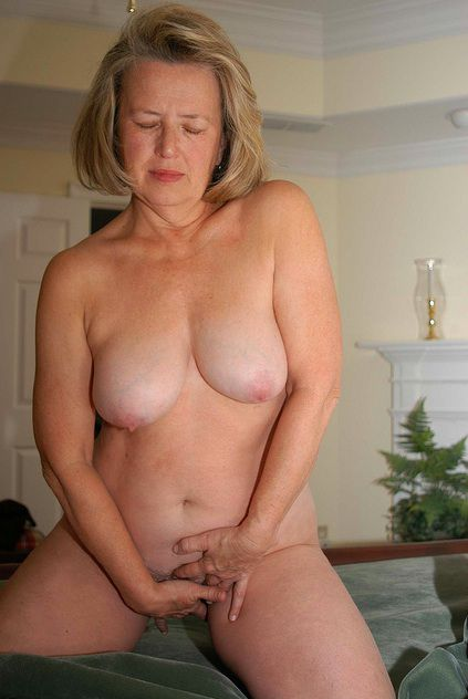 Whorish mature wifey stretching bosoms..