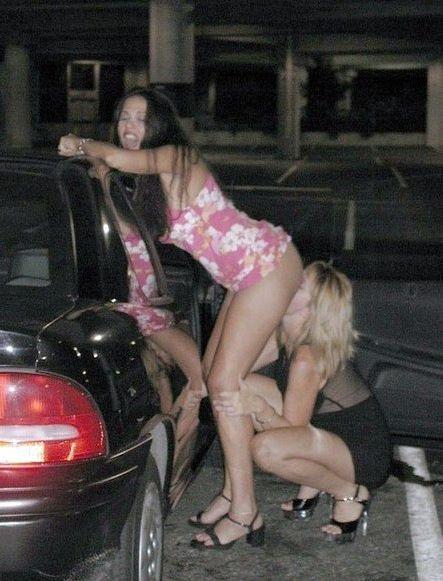 Damsel ladies doing fellatio and  man..