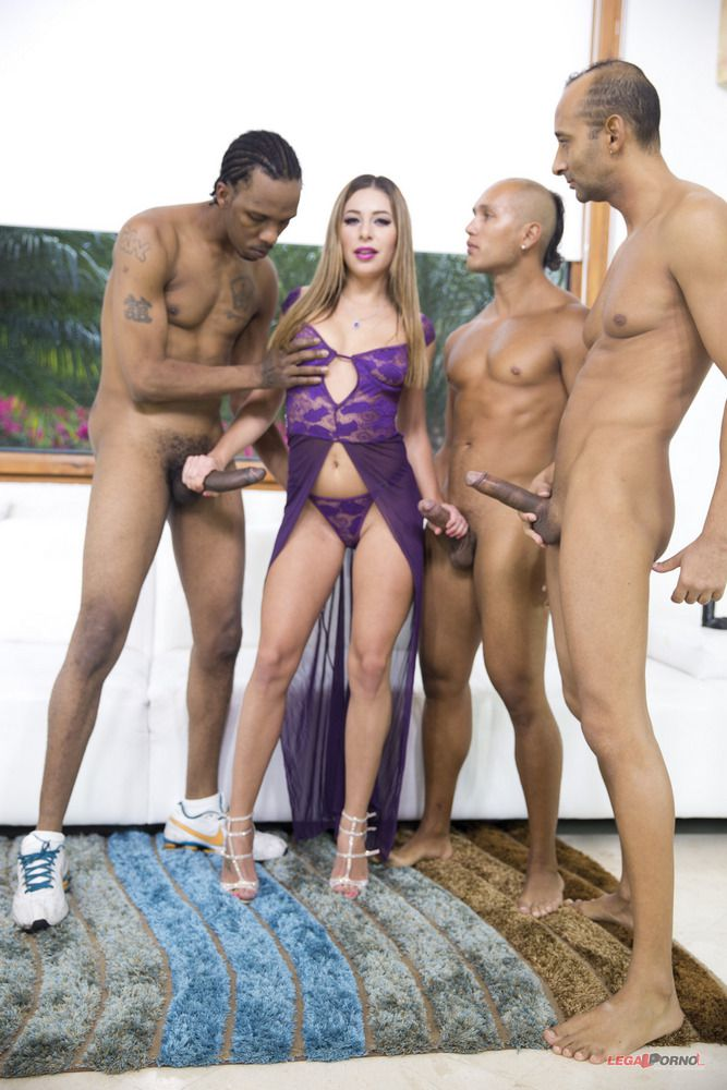 Molten bi-racial oral group sex with..