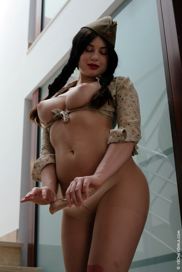 Buxom Lucy in the army now