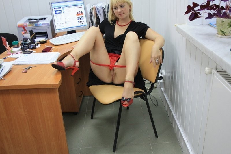 Captivating office secretaries posing..
